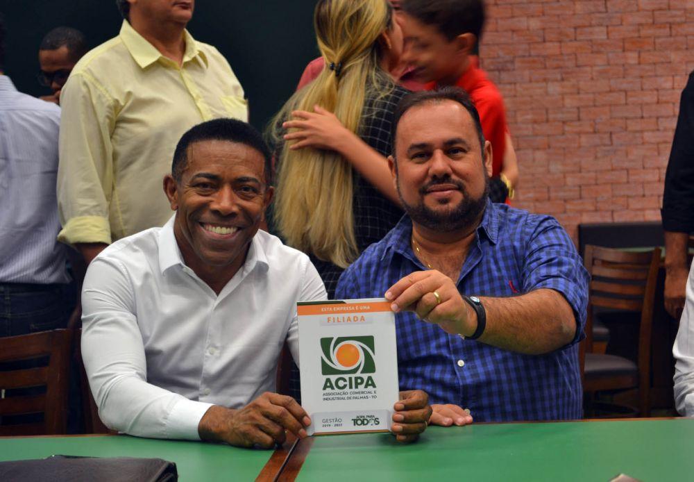 Joseph Madera e o proprietário da rede Big Cristiano Melo - Foto: Assessoria