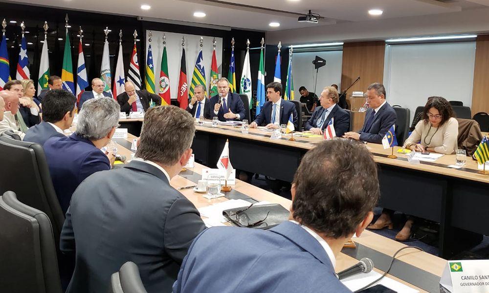 Atividades pedagógicas movimentam DGovernador Mauro Carlesse, cumpre agenda em Brasília nesta terça-feira, 11, onde participa do V Fórum de Governadores – Foto: Governo do Tocantins;retorias Regionais de Educação