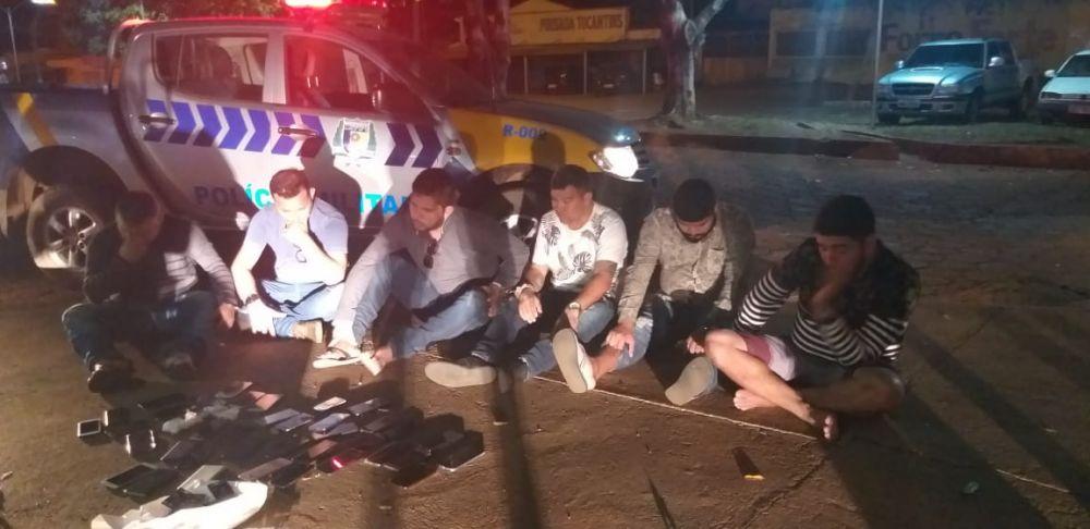 Suspeitos detidos em Paraíso do Tocantins - Foto: Divulgação/PMTO