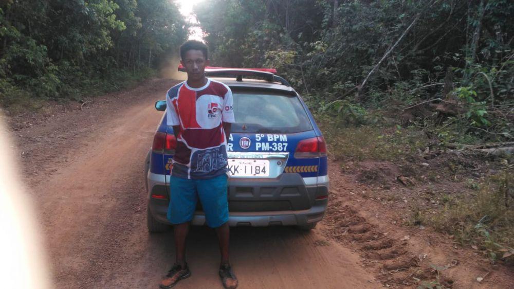 Suspeito de assassinar caminhoneiro em Silvanópolis é preso pela PM – Foto: Divulgação/PMTO