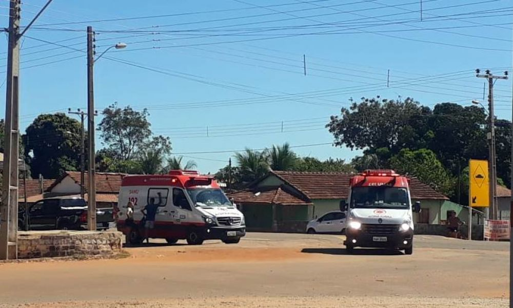 Ambulâncias do Samu chegando no hospital com as vítimas – Foto: Reprodução