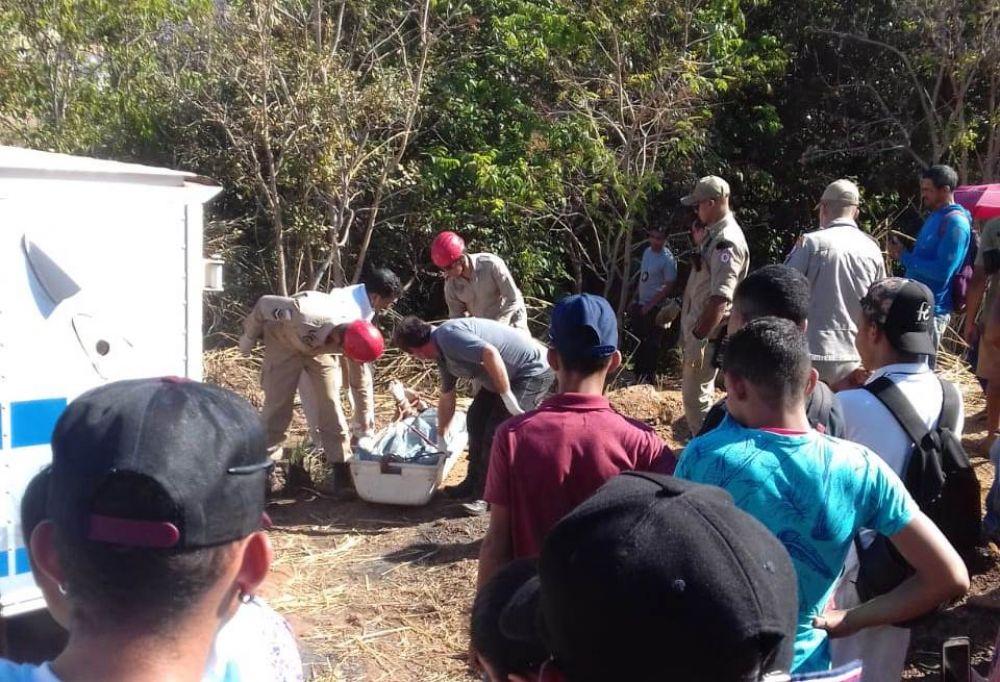 Corpo foi encontrado em uma grota próximo a Unidade de Pronto Atendimento SUL em Palmas — Foto: Reprodução/Agência Tocantins