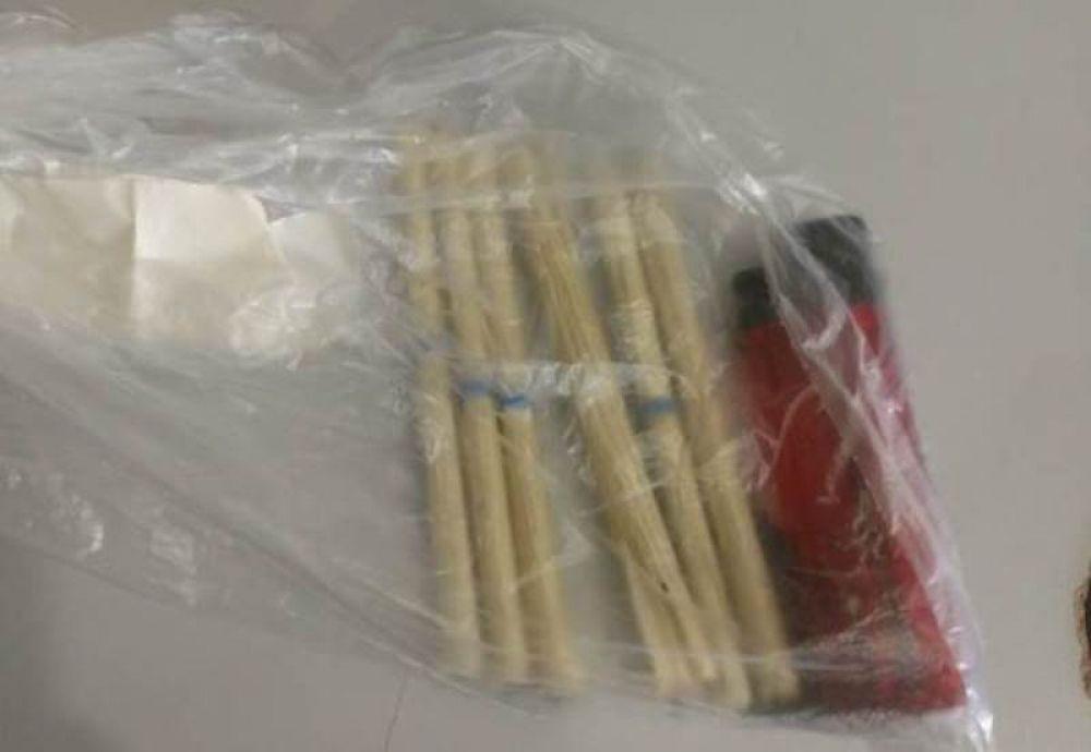 Cigarros recheados com maconha apreendidos pelos agentes da Execução Penal durante procedimento de revista – Foto: Reprodução/Agência Tocantins