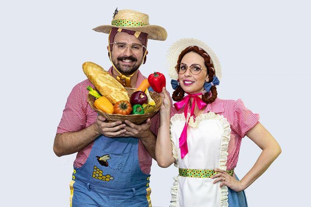 Personagens da peça ''Do campo a mesa'' – Foto: Divulgação