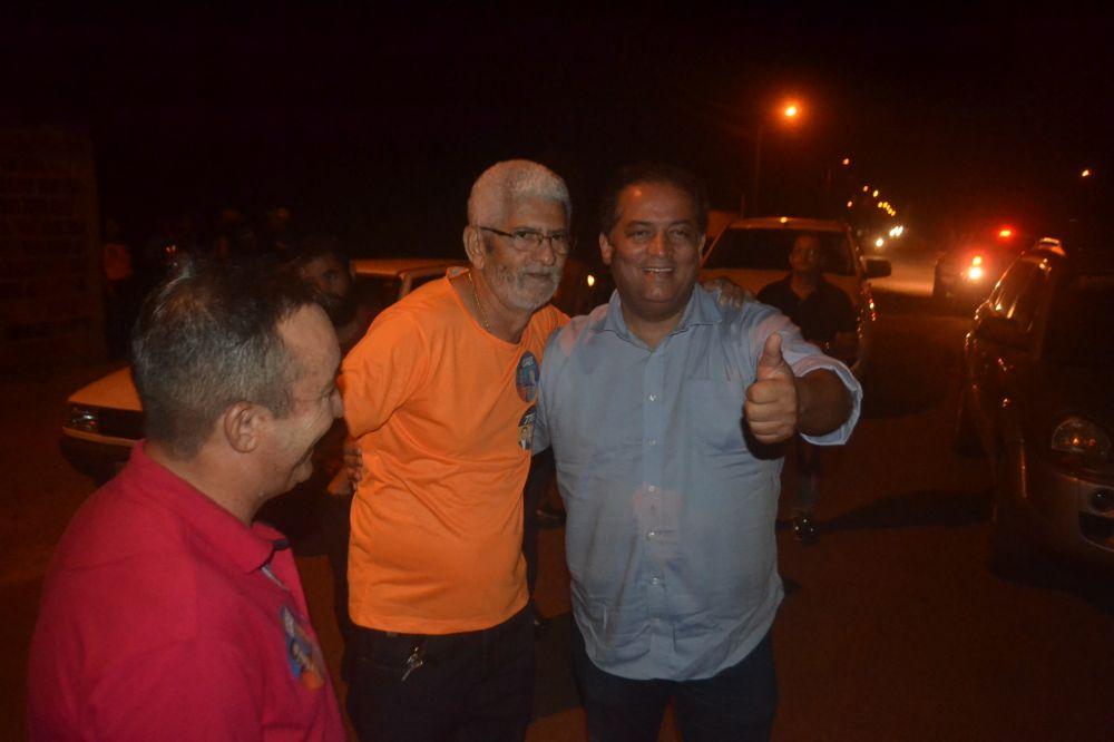 Rodolfo ao lado do senador Eduardo Gomes (MDB) e o vereador Orlandin da Boa Fé - Foto: Edsom Gilmar / Arquivo setembro de 2018