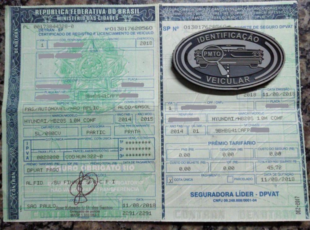 Documento apresentado pela condutora era falsificado – Foto: Divulgação/PMTO