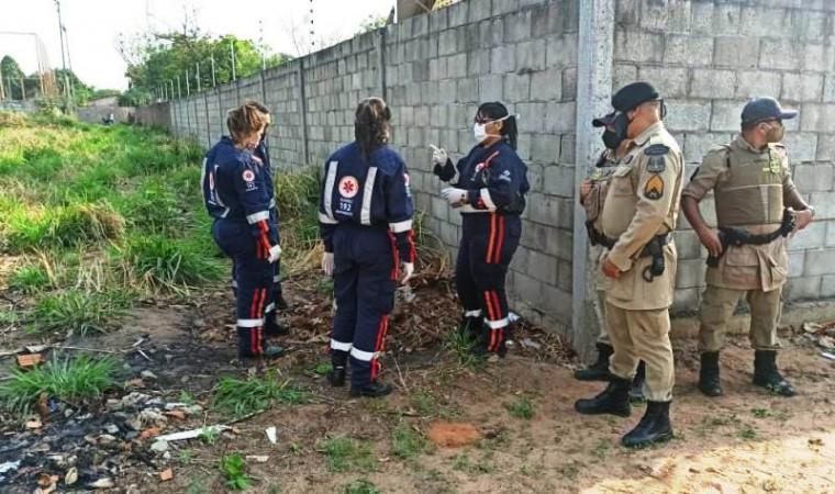 Local onde o corpo da mulher estava / Foto: AF Notícias