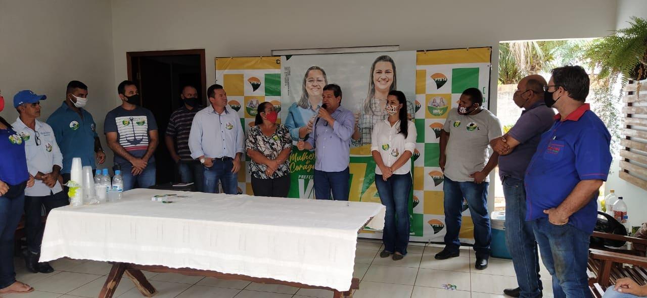 Deputado Damaso faz explanações durante concentração política de Vani - Foto: Divulgação