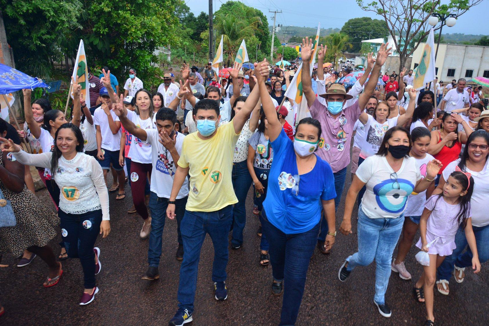 Enfermeira Nezita e o vice - Dr. Edivaldo superaram o gigantismo da máquina pública e cassiques da política de Monte Santo - TO - Foto: Divulgação / Arquivo