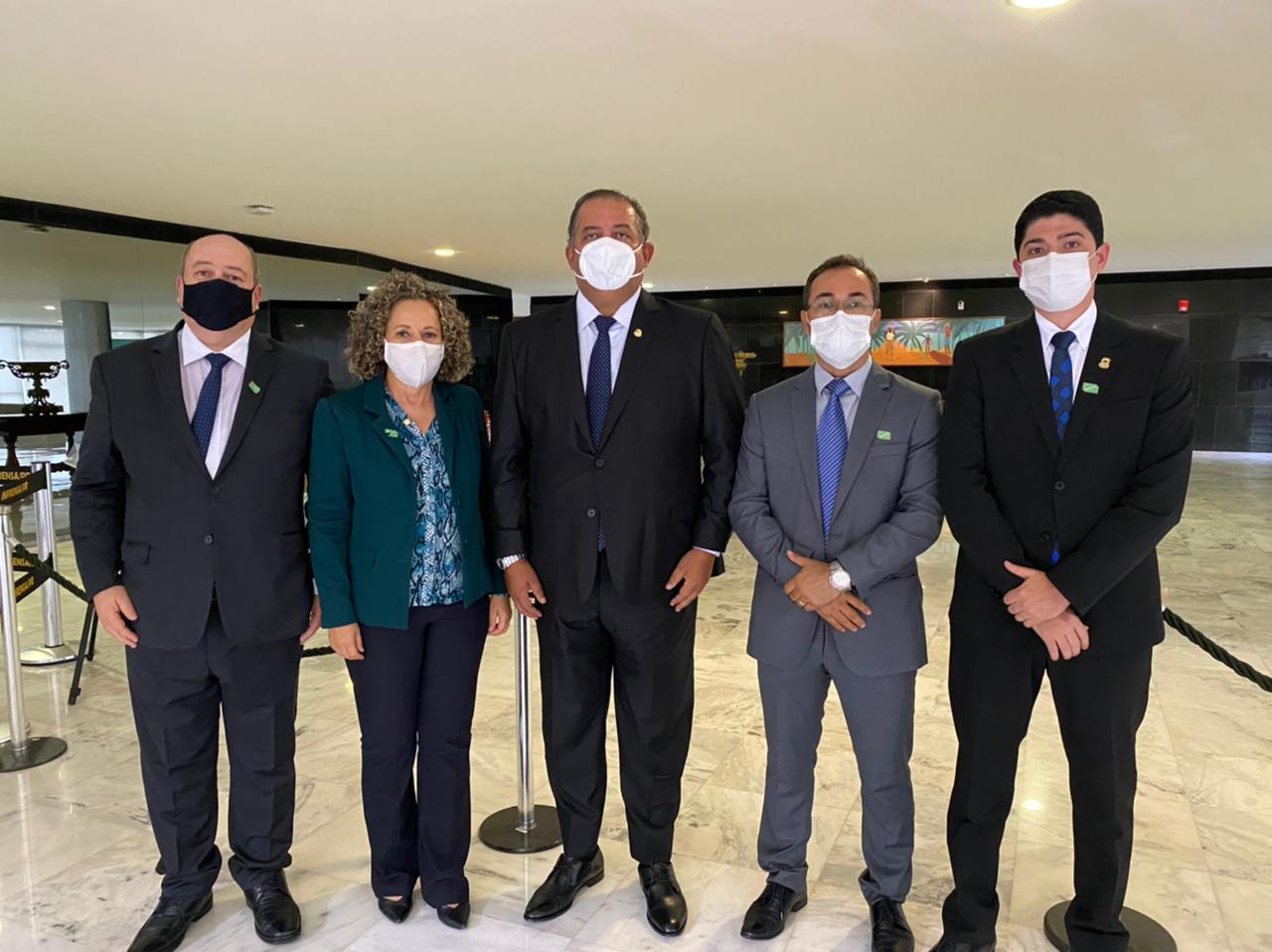 Morais esteve ainda com o senador Eduardo Gomes - Foto: Divulgação