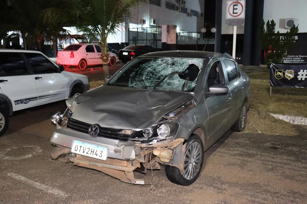 O motorista do veículo fugiu do local sem prestar socorro à vítima, porém, acabou preso pela PM – Foto: Alessandro Ferreira / Agência Tocantins