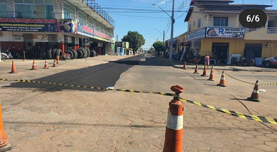 Prefeitura segue com recapeamento asfaltico nas ruas e avenidas no centro de Gurupi até agosto – Foto: Divulgação