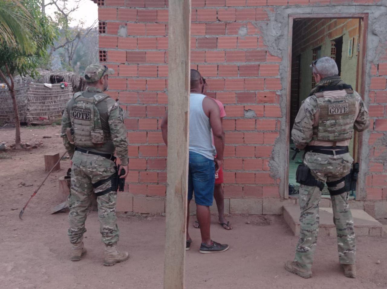 Condenado da Justiça foi preso durante a operação Hórus no sul do estado – Foto: Divulgação/SSPTO