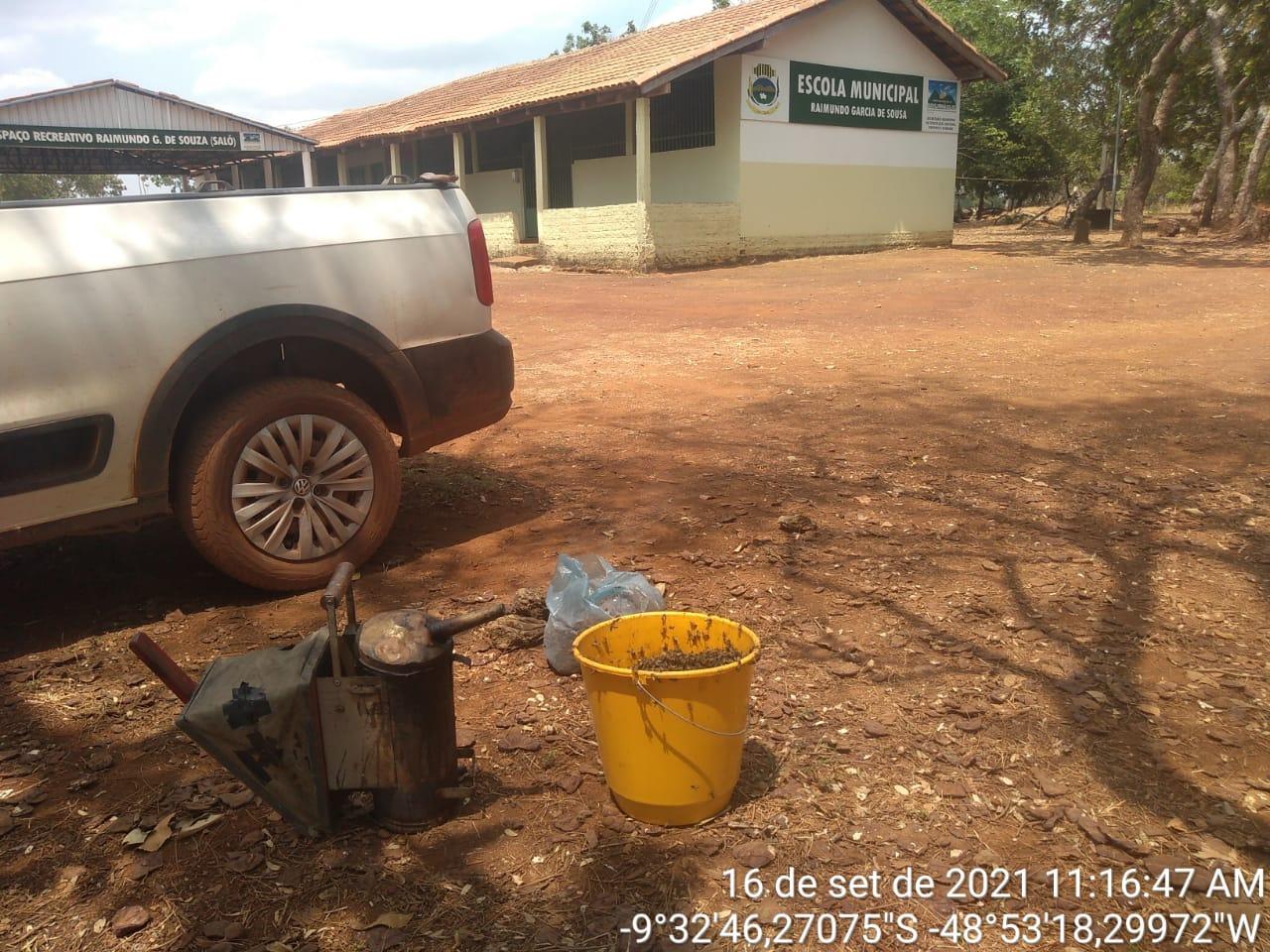 Colmeia estava na Escola Municipal Raimundo Garcia de Souza - Foto: Ascom/Divulgação