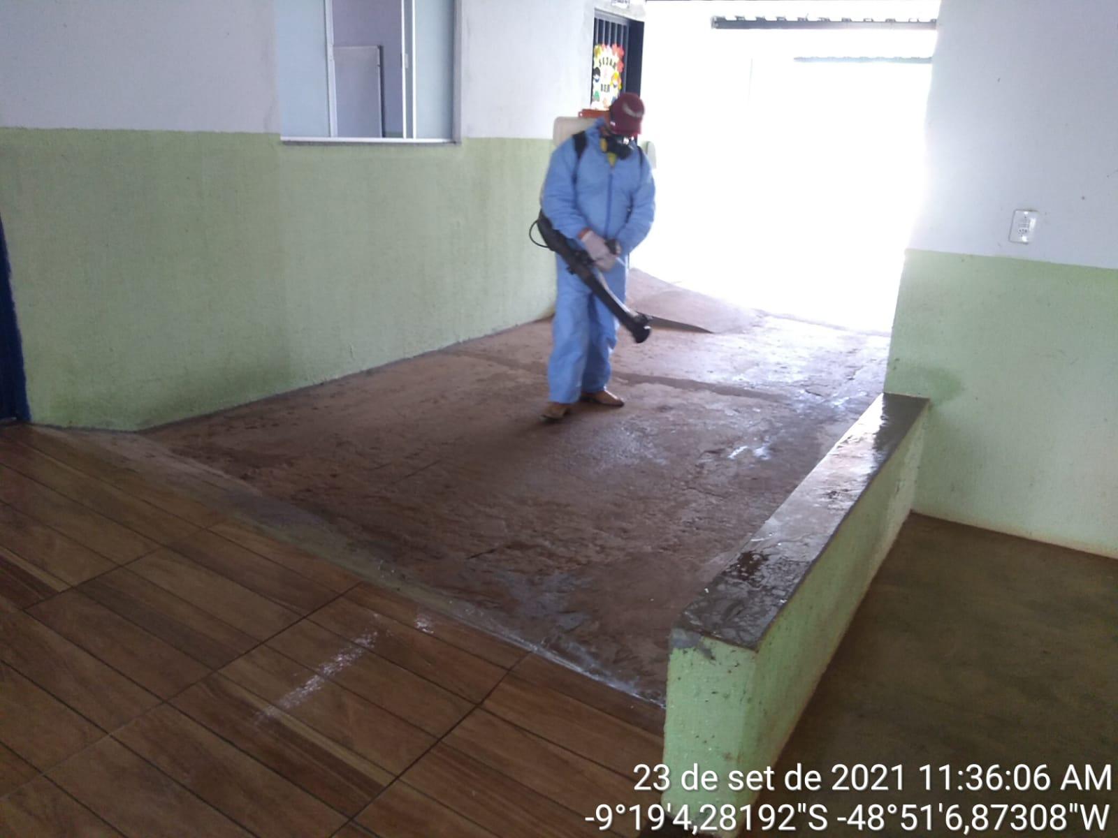 Atividade deixou a unidade higienizada para aulas presenciais - Foto: Ascom/Divulgação
