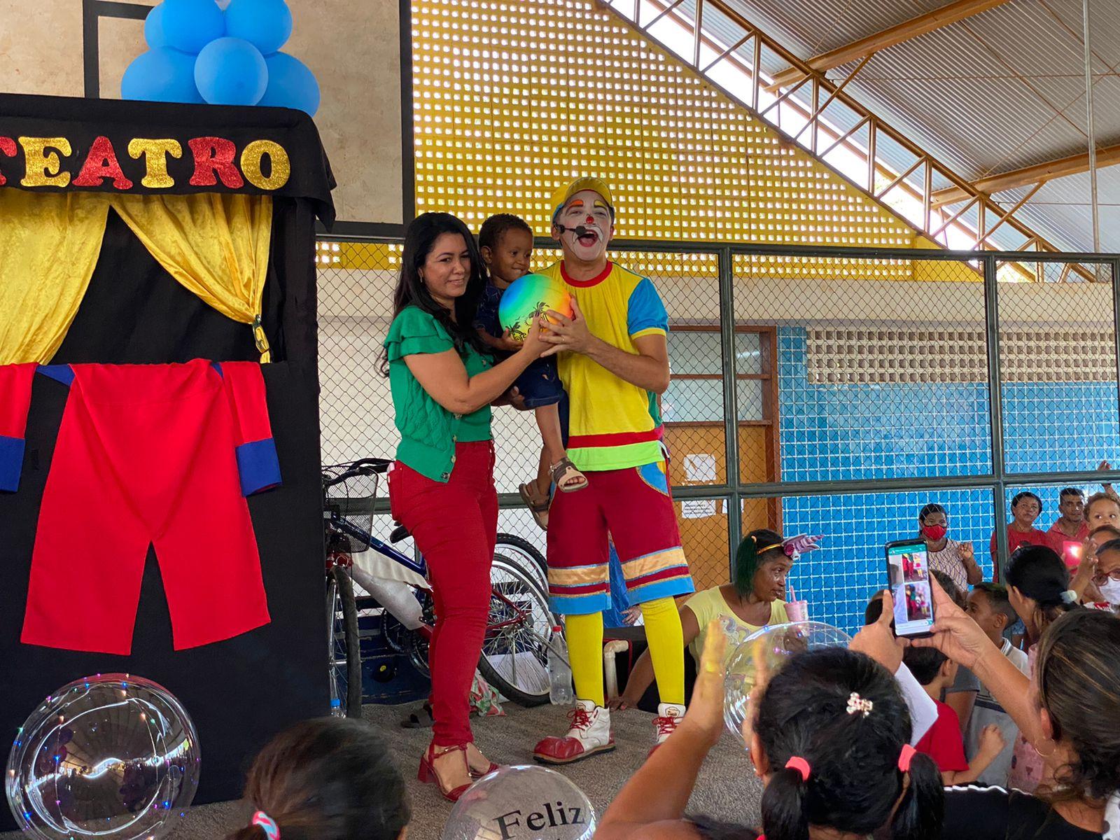 Palhaço Batatinha levou a cultura circense á Caseara - Foto: Ascom/Divulgação