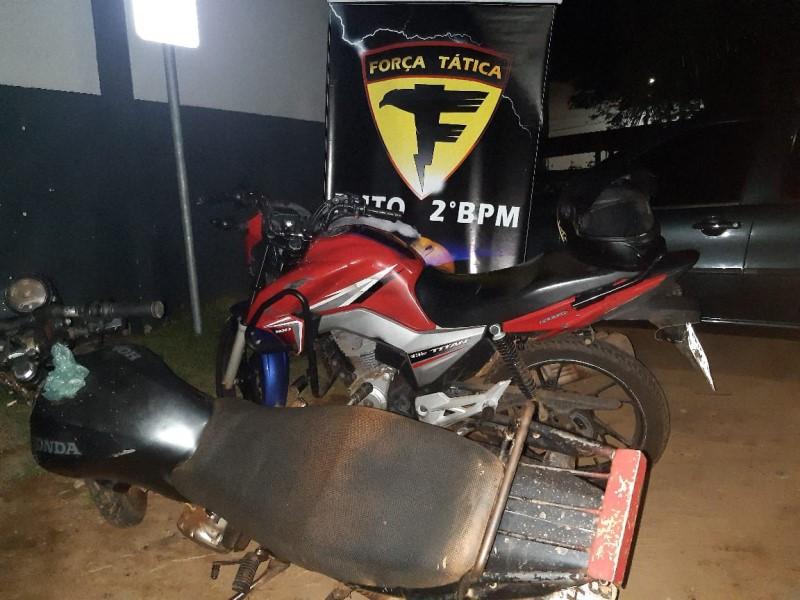 PM recupera motocicletas e apreende menor por ato infracional roubo em Araguaína