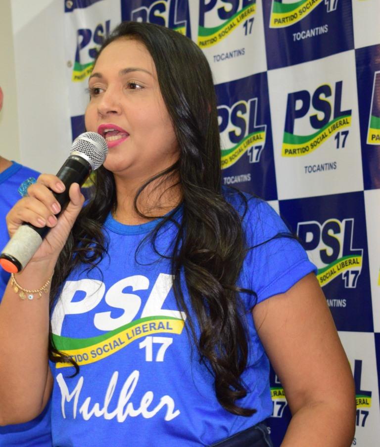 Na disputa à prefeitura de Palmas, Vanda Monteiro é aposta do PSL para concorrer às eleições 2020