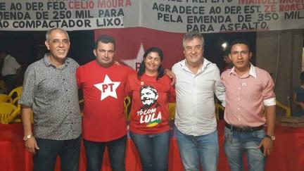 Célio Moura reforça apoio ao prefeituriavel Manuel Moura em Abreulandia – TO