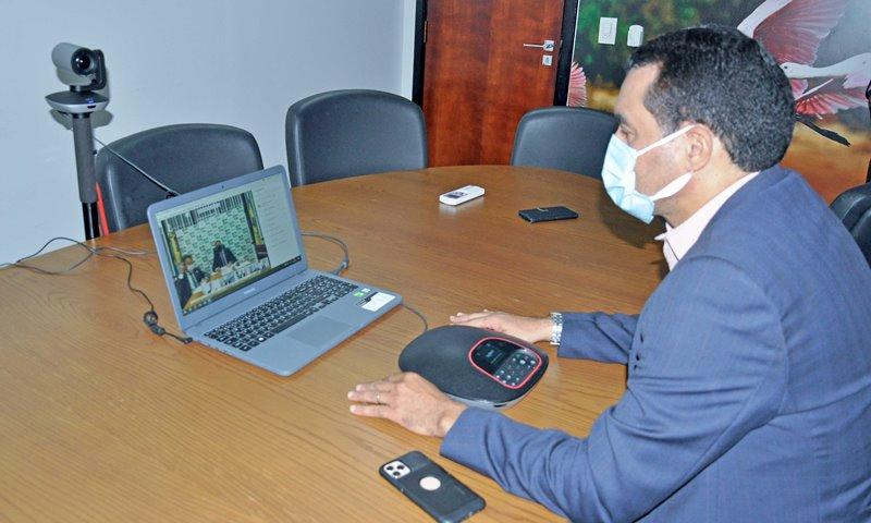 Wanderlei Barbosa solicitou diretamente ao vice-presidente da República apoio nas ações de combate a queimadas – Foto: Aldemar Ribeiro/Governo do Tocantins
