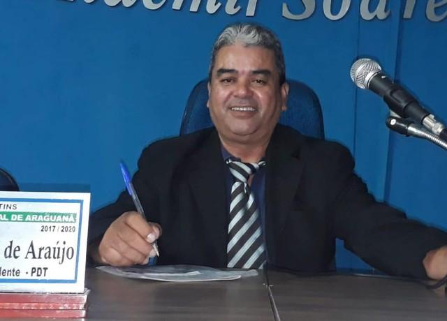 Cícero Cruz era presidente da Câmara Araguanã e tinha assumido a Prefeitura — Foto: Divulgação