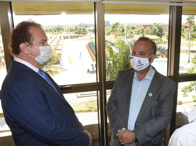 Ministro do Desenvolvimento Regional cumpre agenda em Palmas — Foto: Élcio Mendes/Governo do Tocantins