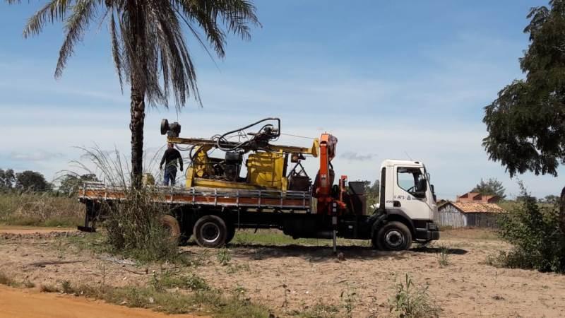 Perfuratriz da ATS já está no município para perfuração de novo PTP – Foto: Ascom ATS/Divulgação