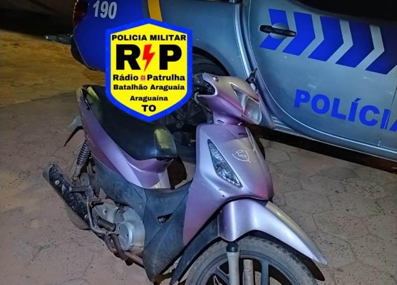 Dupla é presa após serem flagrados com moto roubada em Araguaína; Veículo foi recuperado