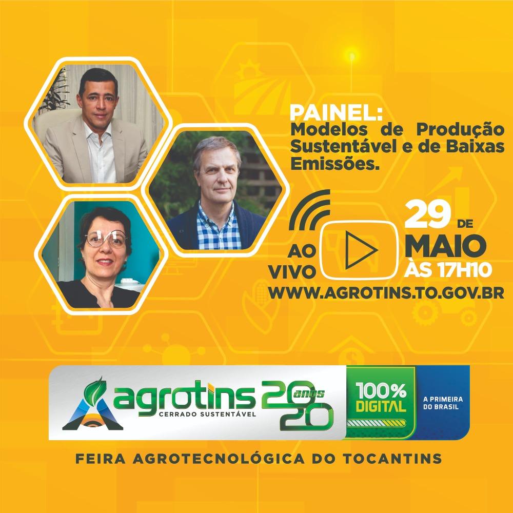 Renomado cientista Daniel Nepstad e Semarh apresentam na Agrotins palestra sobre modelos de produção sustentável